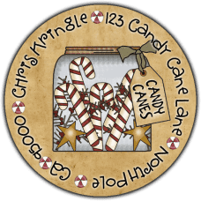 Candy Cane Jar Round Return Address Label