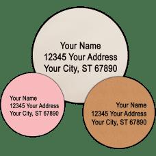 Plain Round Return Address Labels