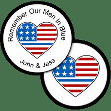 Thin Blue Line Round Seals & Stickers