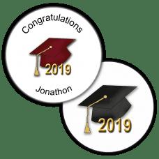 Graduation Hats Round Seals & Stickers