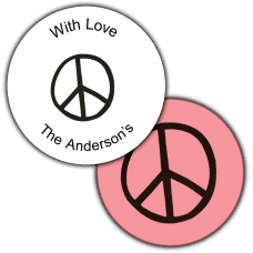 Peace Sign Round Seals & Stickers