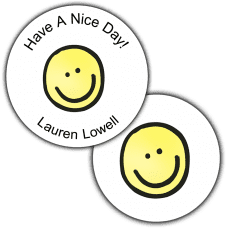 Smiley Face Round Seals & Stickers