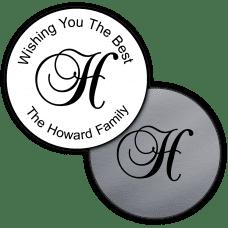Script Monogram Round Seals Or Stickers