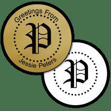Gothic Monogram Round Seals & Stickers