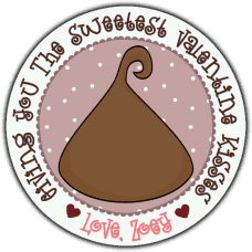 Chocolate Kiss Round Sticker