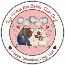 Country Mice Couple Round Sticker