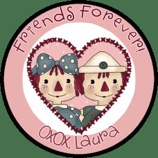 Annie & Andy Valentine Round Sticker