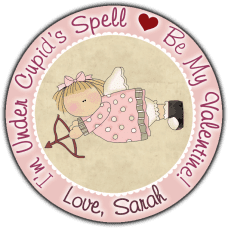 Cupid Angel Round Sticker