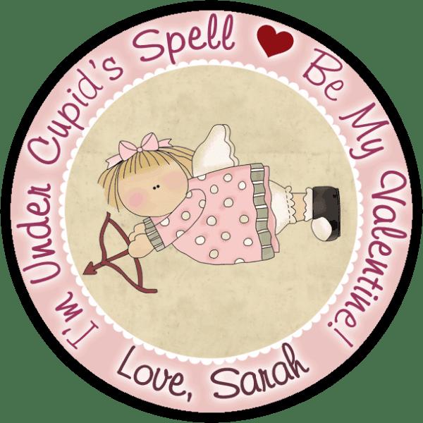 Cupid Angel Round Sticker