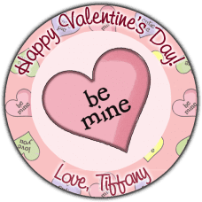 Be Mine Candy Heart Round Sticker