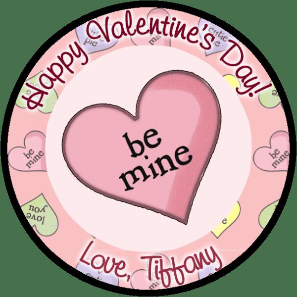 Be Mine Candy Heart Round Sticker