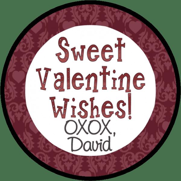 Sweet Valentine Wishes 2 Round Sticker