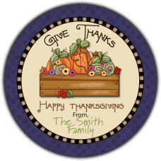 Autumn Harvest Round Gift Tag Stickers