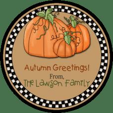 Harvest Pumpkins Round Gift Tag Stickers