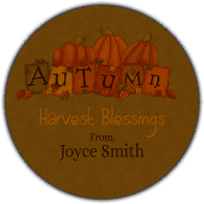Autumn Round Gift Tag Stickers