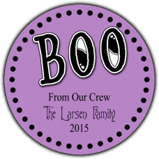 Boo Round Treat Bag Stickers