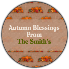 Autumn Background Round Gift Tag Stickers