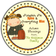 Girl With Pumpkin Round Gift Tag Stickers
