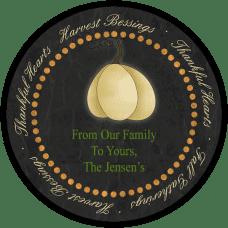White Pumpkin Round Gift Tag Stickers