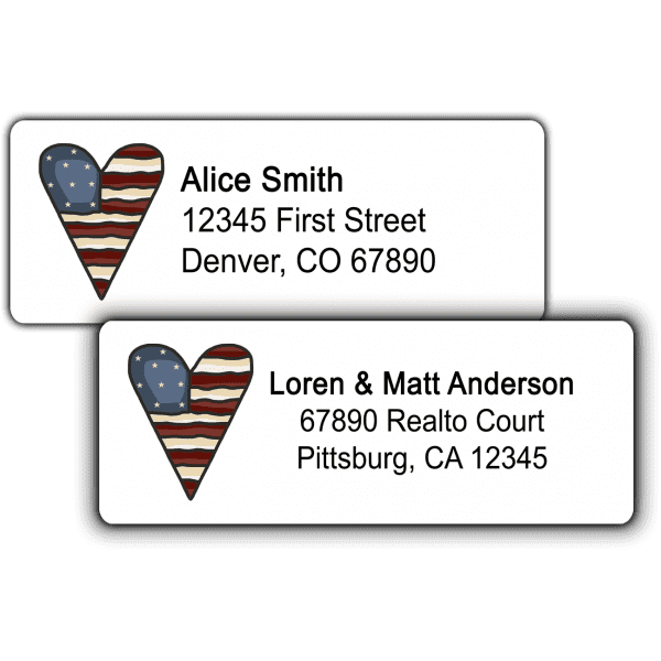 American Heart Return Address Labels