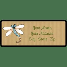Colorful Dragonflies Return Address Labels