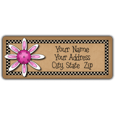 Pink Clematis Return Address Labels