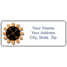 Yellow Sunflower Return Address Labels