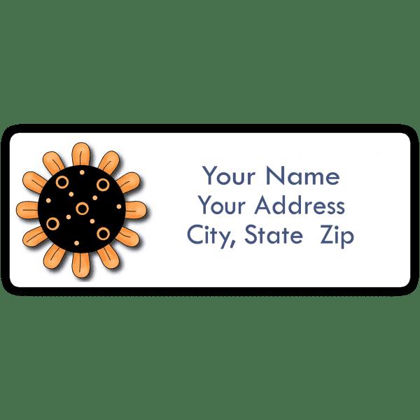 Yellow Sunflower Return Address Labels