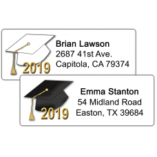 Graduation Hats Return Address Labels