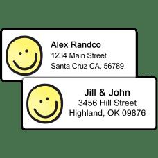 Smiley Face Return Address Labels