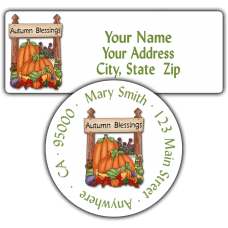 Autumn Blessings Return Address Labels