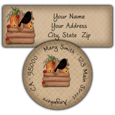 Autumn Harvest Basket Return Address Labels