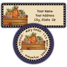 Autumn Harvest Return Address Labels