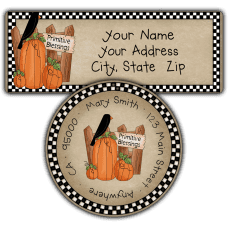 Autumn Primitive Blessings Return Address Labels