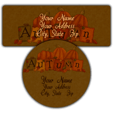 Autumn Return Address Labels