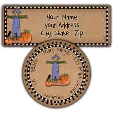 Autumn Scarcrow Return Address Labels