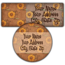 Autumn Sunflower Background Return Address Labels
