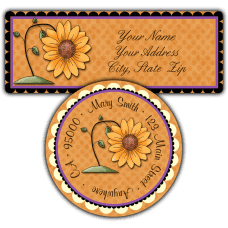 Autumn Sunflower Return Address Labels