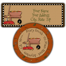 Autumn Wheelbarrow Return Address Labels