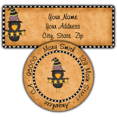 Black Crow Witch Return Address Labels