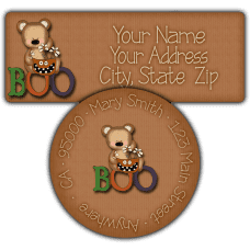 Boo Bear Return Address Labels
