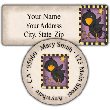Boo Crow Return Address Labels