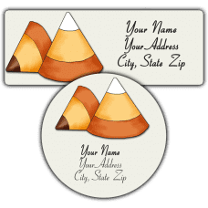 Candy Corn 2 Return Address Labels