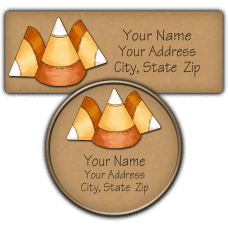 Candy Corn 3 Return Address Labels