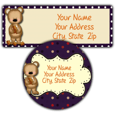 Candy Corn Bear Return Address Labels