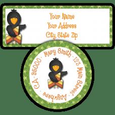 Candy Corn Crow Return Address Labels