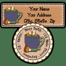 Candy Corn Mug Return Address Labels