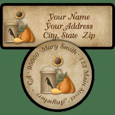 Fall Havest Scape Return Address Labels
