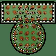Green Jack O Lantern Return Address Labels