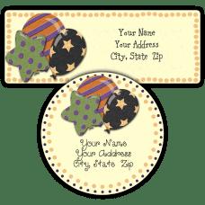Halloween Balloons Return Address Labels